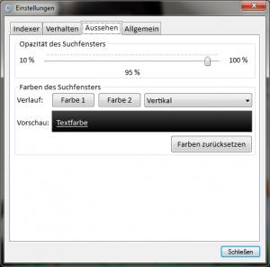 AppStarter.NET Einstellungen